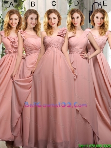 Empire Ruching 2016 Sturning Military Ball Gowns in Peach