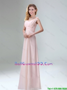 Beautiful Chiffon Military Ball Gowns in Light Pink for 2016
