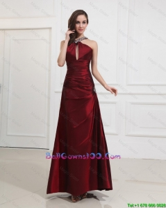 Most Popular Straps Burgundy Military Ball Gowns with Beading for 2016