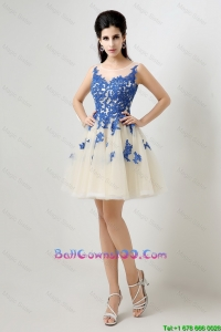 New Arrivals A Line Bateau Military Ball Gowns with Appliques