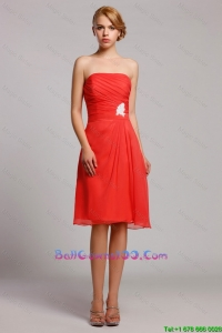 New Style Appliques Short Military Ball Gowns in Orange Red