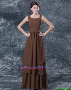 Discount Straps Brown Military Ball Gowns with Ruching