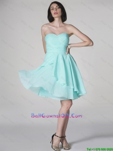 New Style Side Zipper Ruched Short Celebrity Dresses with Sweetheart