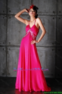 Pretty Empire Spaghetti Straps Criss Cross Military Ball Gowns with Beading