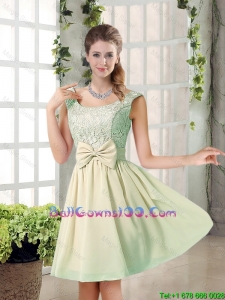2016 Summer A Line Straps Lace Ball Gowns Dresses with Bowknot