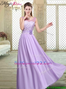 Best Scoop Lace Military Ball Gowns in Lavender