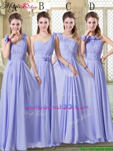 New Style Empire Floor Length Military Ball Gowns in Lavender