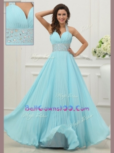 Fashionable Halter Top Exquisite Military Ball Gowns with Beading and Paillette