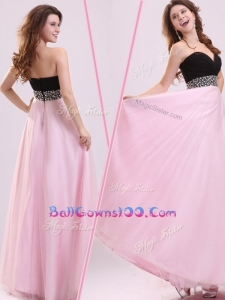 Cheap Empire Sweetheart Beading Luxurious Military Ball Gowns in Baby Pink