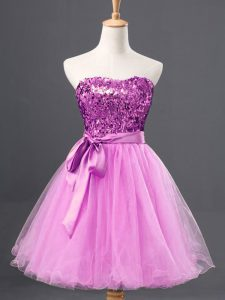 New Style Tulle Sleeveless Mini Length Military Ball Gown and Sequins