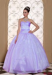 Lavender Sweetheart Beaded Long Military Ball Dresses in California