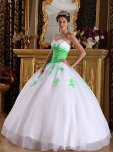 Zipper-up White Long Formal Gown For Military Ball with Appliques