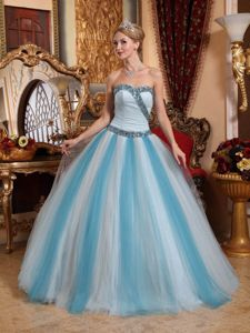 Multi-color Sweetheart Beaded Long Formal Dress For Military Ball