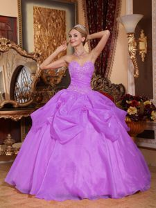 Lace-up Lavender Appliques Long Evening Gowns For Military Ball