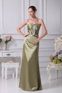 New Arrival Olive Green Lace-up Military Ball Gown with Beading