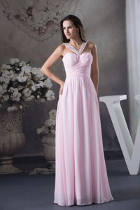Discount Side Zipper Baby Pink Military Ball Gown Beaded Straps