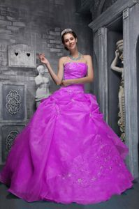 Recommended Strapless Taffeta Military Ball Gown with Embroidery