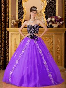Beaded Ball Gown Sweetheart Appliqued Military Ball Dress Tulle