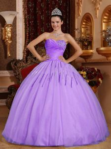 Ball Gown Lavender Evening Gowns for Military Ball with Sequins