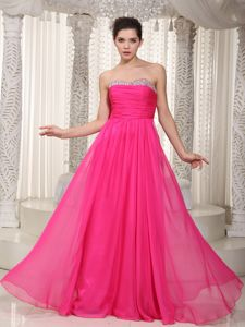 Plus Size Hot Pink Military Ball Gowns with Beaded Sweetheart