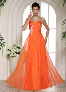 High Quality Appliqued Orange Red Military Ball Gowns under 150