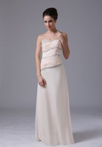 Modest Sweetheart Marine Corps Ball Gowns with Ruche and Beads