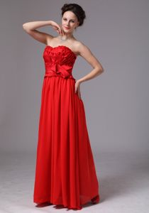 the Brand New Style Chiffon Strapless Military Ball Gown with Layers