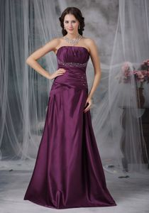 Wholesale Lace-up Ruched Beaded Burgundy Military Ball Gown