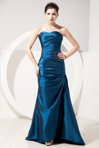 Modest Strapless Ruched Dresses for the Military Ball Brush Train