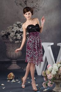 Detachable Leopard Print Military Ball Attire with Sequin Sweetheart
