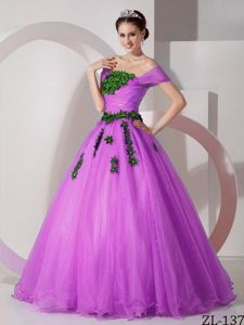 Off The Shoulder Organza Appliques Military Ball Dresses Cheap