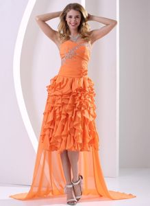 Detachable Beaded Ruched Military Ball Gown with Ruffled Layers