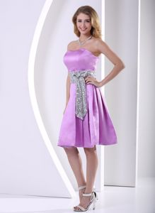 Wonderful Short Lavender A-line Military Ball Gown With Sequins