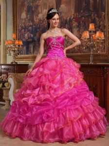 Beaded Coral Red Superb Sweetheart Pick-ups Military Ball Dresses