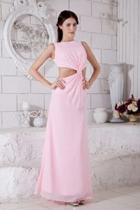 Attractive Ankle-length Bateau Formal Dresses in Baby Pink 2013