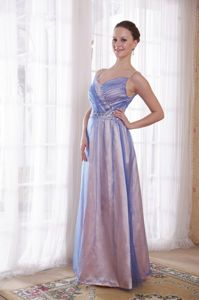 Straps Lilac Empire Straps Tulle Beading Military Ball Dress