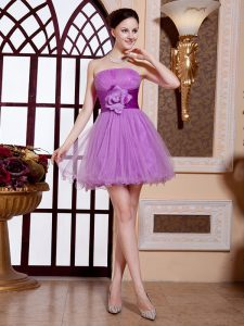 Customized Lilac Sleeveless Organza Zipper Military Ball Dresses for Prom and Party