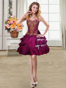 Pick Ups High Low Ball Gowns Sleeveless Fuchsia Military Ball Dresses For Women Lace Up