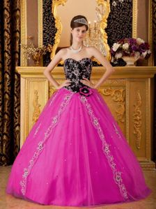 Hot Pink A-line Sweetheart Beaded Cheap Military Ball Dresses
