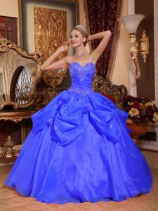 Blue Sweetheart Pick-ups and Appliques for Dress for the Military Ball