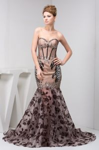 Mermaid Beaded Champagne Military Ball Gown with Black Lace Cover Iowa